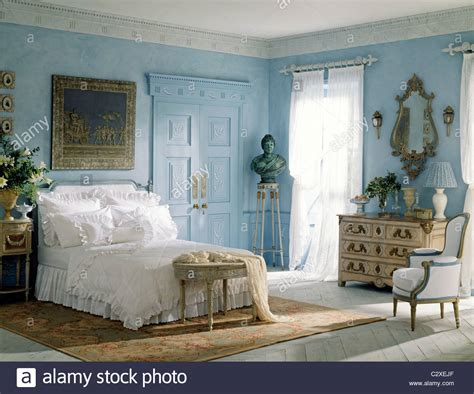 blue white bedroom blue white bedroom french style furniture stock photo royalty free image 36232295