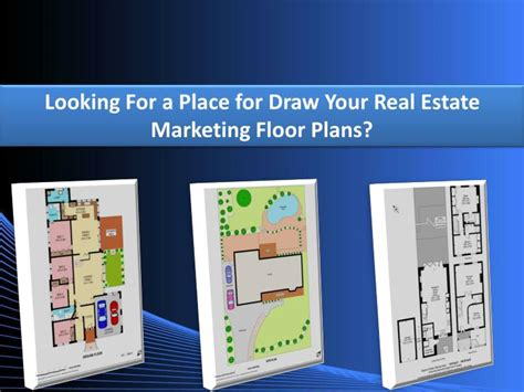 real estate marketing floor plans ppt looking for a place for draw your real estate