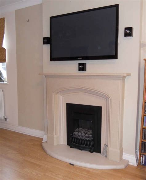 Projector Media Room - london install of tv wall mounted on chimney breast with 5 1 home cinema system master av