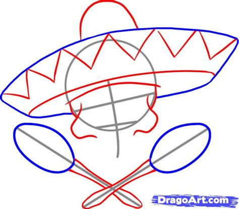 draw a pattern en español how to draw a sombrero step by step skulls pop culture
