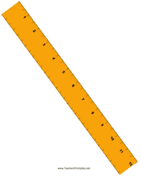 printable yellow ruler ruler with quarter inches