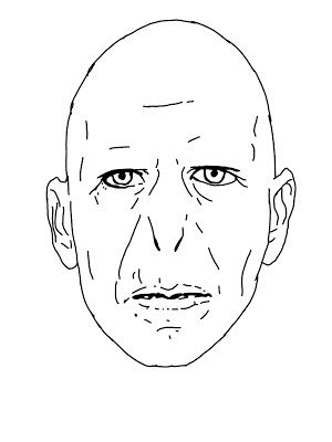 voldemort face outline by ajmidnightwolf