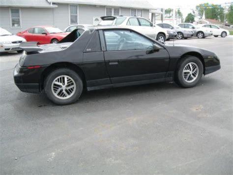 where to buy car manuals 1986 pontiac fiero regenerative braking purchase used 1986 pontiac fiero se coupe black 5 speed 2 8 liter v6 no reserve in saint charles