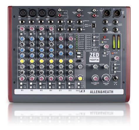 Mixer Audio Recording allen heath zed 10fx 10 channel live recording mixer with usb fx mcquade musical