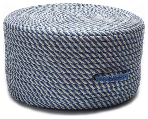 braided pouf ottoman braided bright twist pouf round blue ice pouf ottoman