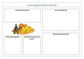 ancient egyptians pyramid factsheet by gillitee teaching