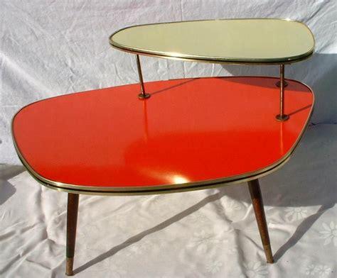 vintage mid century coffee table orange and gold coffee table mid century mid century