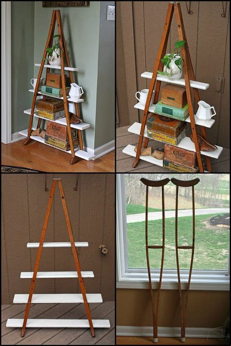 Shelf Made Out Of Crutches by 25 Best Ideas About Crutches Shelf On