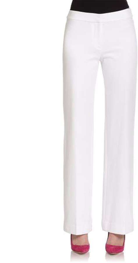 Josie White Knit josie natori ponte knit leg in white lyst