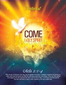 religious flyers template free pentecost come holy spirit religious flyer template