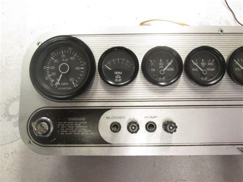 boat dash gauges 1986 four winns freedom i boat gauges dash panel ebay