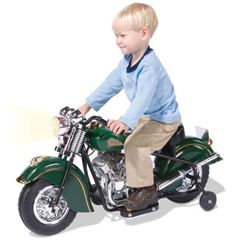 kids motorbike the children s electric 1948 indian motorcycle hammacher