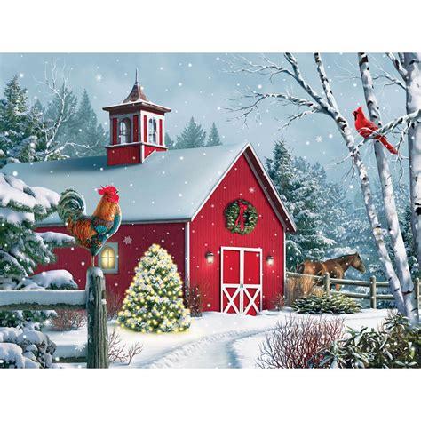 winter barn ii  piece jigsaw puzzle bits  pieces uk