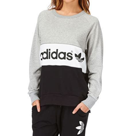 women s adidas originals city sweatshirt medium grey heather black cheap the ultimate