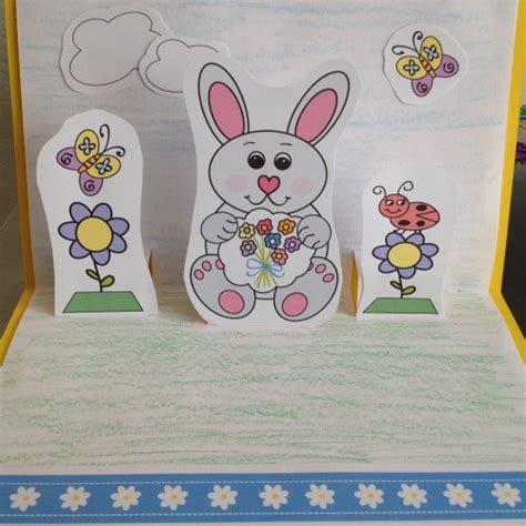pop up easter card template free easter popup card craft for sing laugh learn