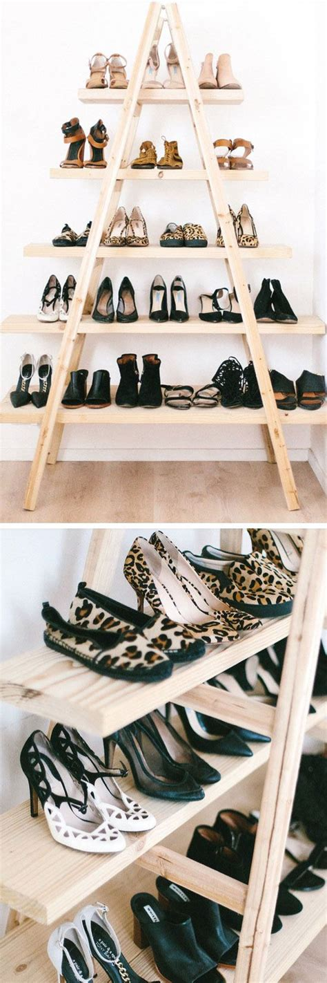 diy shoe shelf 18 diy shoe storage ideas for small spaces