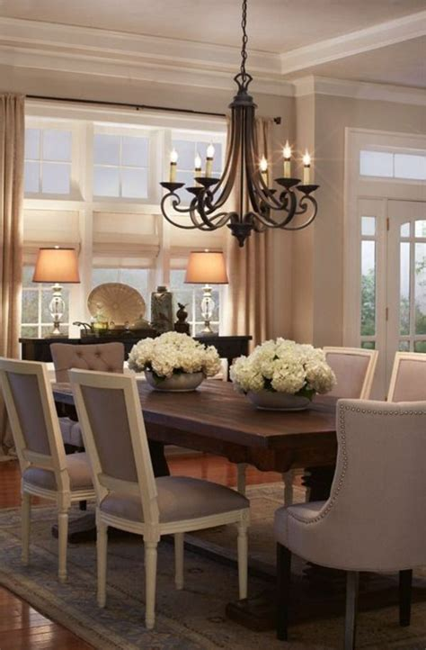 decorate flowers elegant dining room french country