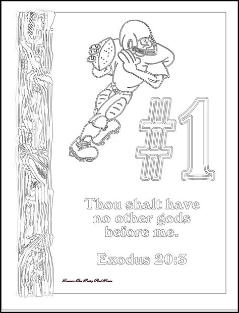 Childrens Gems In My Treasure Box The Big Ten Ten Ten Coloring Pages 10 Commandments