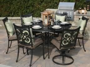 Patio Dining Furniture Herve 6 Person Aluminum Dining Set Oal7117