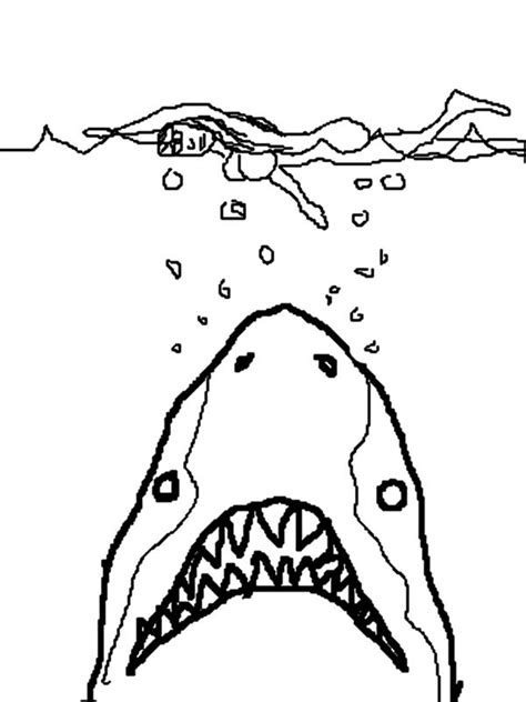Jaws Coloring Pages jaws shark coloring pages