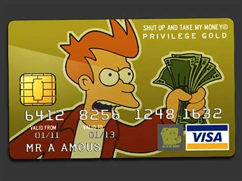 shut up and take my money card template shut up and take my money tech