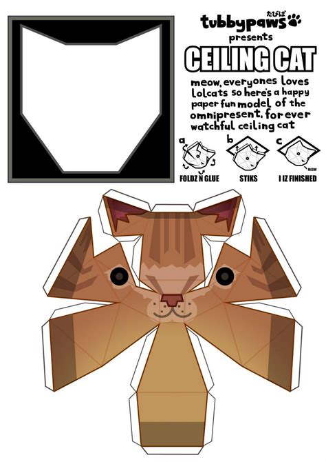 Papercraft Cat - ceiling cat po archives