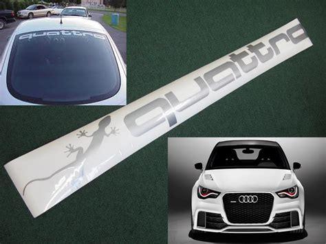 Audi Quattro Decals by Audi Quattro Sunstrip Windshield Decal Sticker S3 S4 A4 Tt
