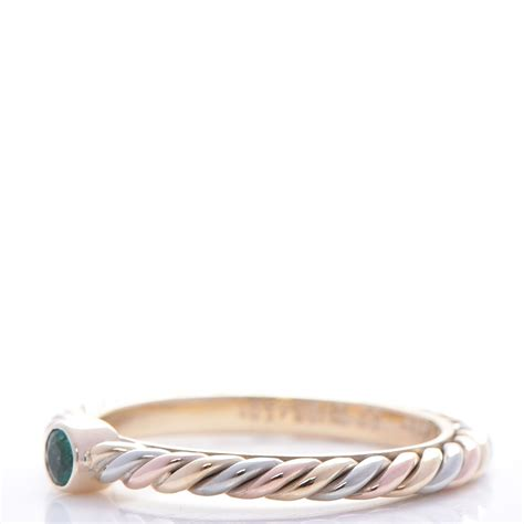 Cartier K Pink  Ee  Yellow Ee   White  Ee  Gold Ee  Mm Cable Twist