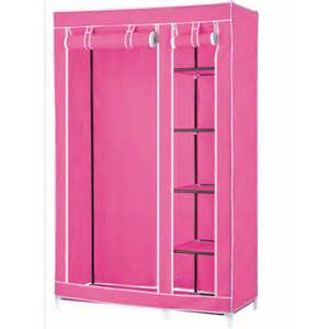 Wardrobe Closet For Hanging Clothes Portable Wardrobe Closets Pink Portable Wardrobe