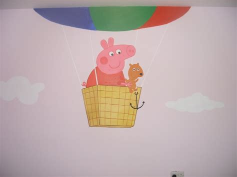 peppa pig wall mural peppa pig mural by cheal on deviantart