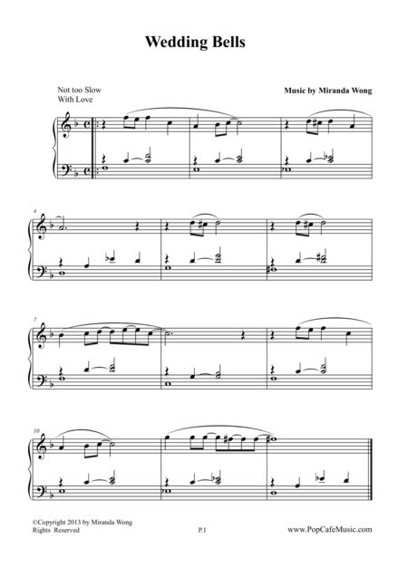 Wedding Bell Piano Sheet wedding bells piano sheet