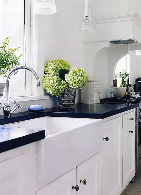 Kitchen With Black Countertops And White Cabinets by You Paid More Than Me Black Kitchen Countertops