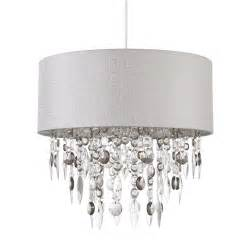 Grey Ceiling L Shades by Modern Easy Fit Drum Shade Grey Fabric Ceiling Pendant