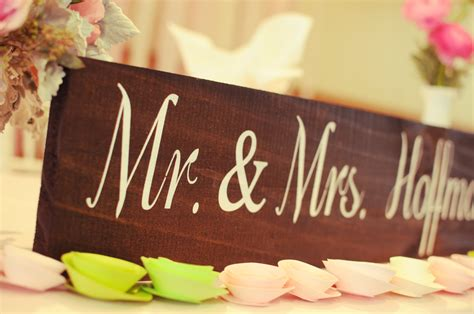 mr and mrs table sign wedding signs wedding signage rustic