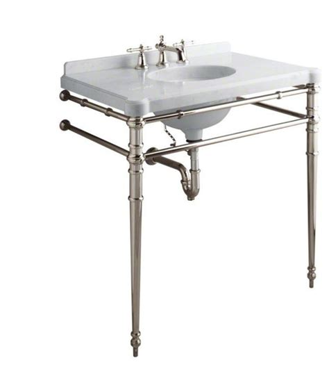 bathroom sink console table kallista chrome inigo by michael s smith console table