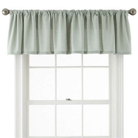 jcpenney curtains valances jcpenney jcpenney home holden rod pocket cotton