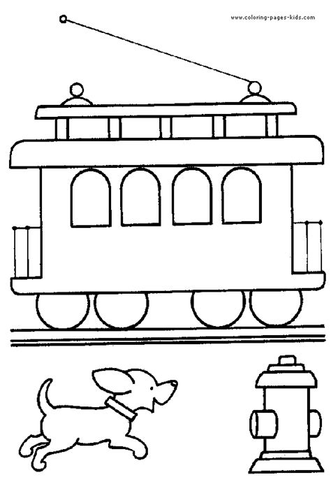 tram color pages printable coloring pages for kids