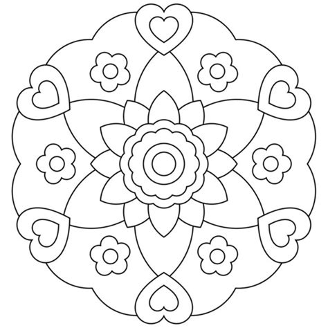 Simple Flower Coloring Pages » Home Design 2017