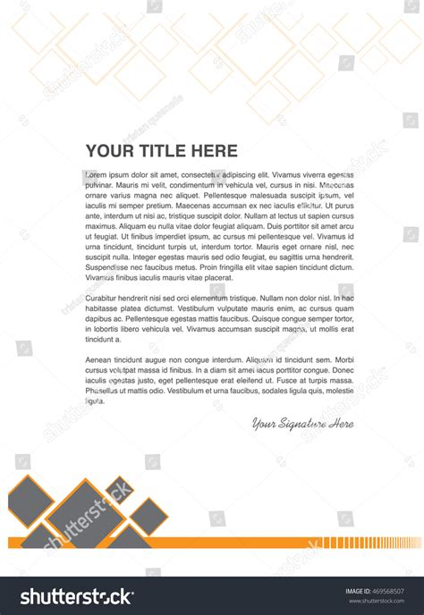 Business Letter Pattern business letter template pattern stock vector