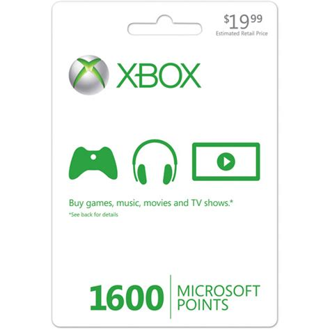 Microsoft Points Gift Cards - xbox live 1600 points card xbox 360 points card xbox 360 game card