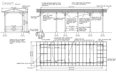 carport floor plans plan complet de carport galvanis 233 plans maisons
