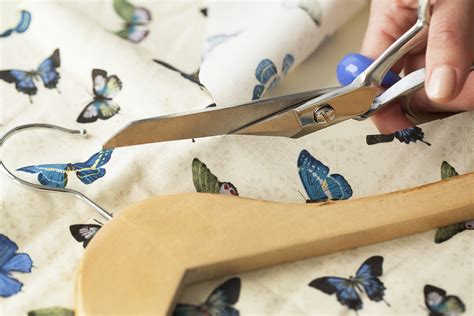 How To Decoupage With Fabric On Wood - fabric decoupaged coat hangers maker crate