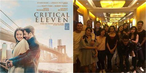 film indonesia critical eleven tak mau ketinggalan para artis adakan nobar critical