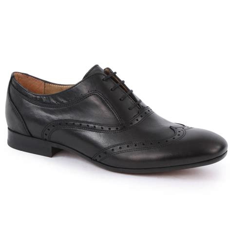 by hudson mens shoes h by hudson francis mens brogue shoes in black