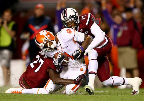 talks awards tigers and gamecocks clemson football news tigernet dylan thompson in clemson v south carolina zimbio