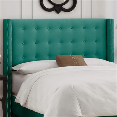button tufted headboard buy nail button tufted wingback headboard color regal