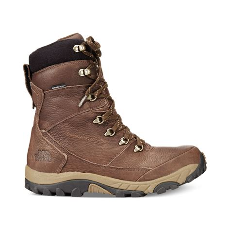 northface boots the chilkat leather insulated boots in