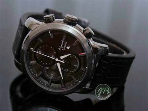Jam Tangan Tetonis 1983 Av Black White Original dinomarket pasardino alexandre christie ac6272bg leather original