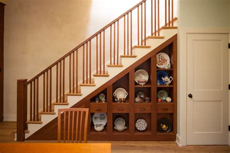 "Grove Avenue ""The Phoenix"" Craftsman Staircase richmond by Watershed Architects"