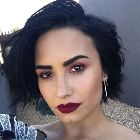 burgundy hair on a latina pin by ari marion on demi lovato pinterest workout